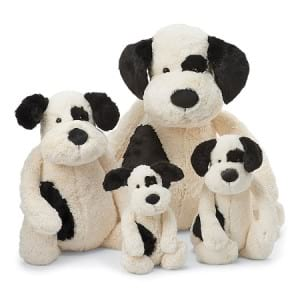 Jellycat Bashful Black & Cream Puppy 3